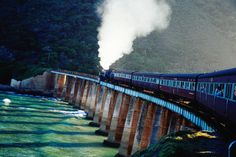 Outeniqua Choo-Tjoe steam train, South Africa  Outeniqua Choo-Tjoe steam train on bridge.      Craig Pershouse Lonely Planet Photographer  © Copyright Lonely Planet Images 2011
