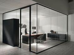 Division vidrio en oficina