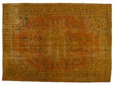 Alfombra de estilo vintage DECOLORIZED MOHAIR YELLOW Colección Carpet Reloaded by Golran