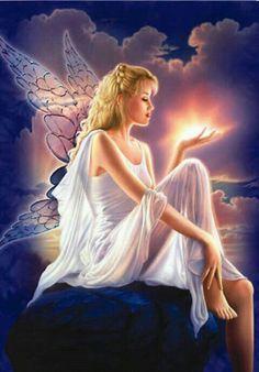 Message from an angel angeles custodios, beautiful fairies, love fairy, fantasy creatures, Fairy Pictures, Angel Pictures, Angel Images, Gif Pictures, Pretty Pictures, Fantasy World, Fantasy Art, Fantasy Fairies, Angels And Fairies