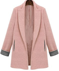To find out about the Pink Lapel Long Sleeve Woolen Slim Coat at SHEIN, part of our latest Outerwear ready to shop online today! Winter Coats Women, Coats For Women, Hijab Fashion, Fashion Outfits, Women's Fashion, Iranian Women Fashion, Modelos Fashion, Looks Style, Mode Style