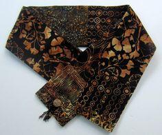 Ginkgo Scarf  Handmade Womens Cotton Batik Ginkgo by BatikStudio, $24.00