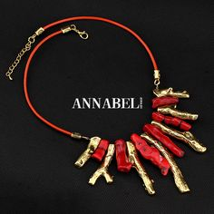 Free shipping!! New Arrival Coral Jewelry  Unique Design Alloy Red Coral Necklace for Women, Factory price Wholesale $6.99