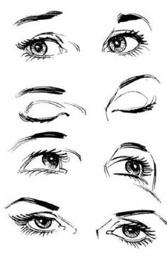 Eyes looking at different directions