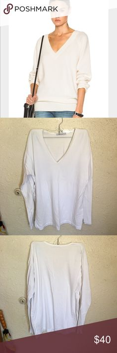 Alexander Wang V-Neck Sweater top Good used condition. Great piece to have in your closet to layer with. Looks amazing with the FP bralettes or the ones from urban. Alexander Wang Tops Tees - Long Sleeve