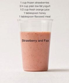 this might be good.. Strawberry and Flax