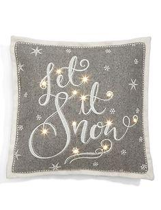 Let it Snow Light Up Cushion | M&S
