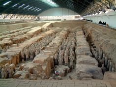 The Terra Cotta Warriors and Horses are the most significant archeological excavations of the 20th century. Work is ongoing at this site, which is around 1.5 kilometers east of Emperor Qin Shi Huang's Mausoleum, Lintong