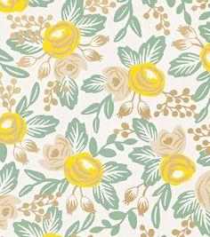 Rosa Yellow - Rifle Paper Co. Wallpaper