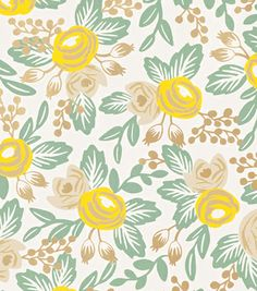 Rosa Yellow - Rifle Paper Co. Wallpaper