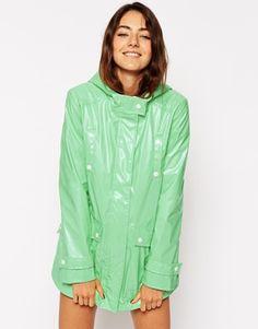 ASOS High Shine Rain Mac