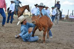 The Spur of the Moment Youth Ranch Rodeo in Terry, Mont.