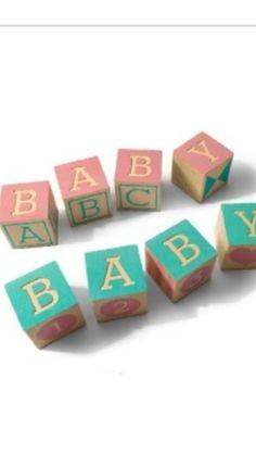 Baby block decorations.
