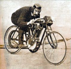 1905 Peugeot board track racer. 250cc, 16hp, 110lbs, 87.32mph.