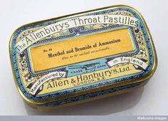 Tin of 'Allenburys' throat pastilles (c.1920).
