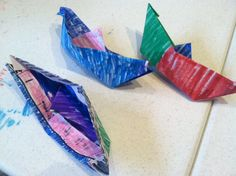 "Asia: Origami Paper Boats - ""Curious George The Boat Show"" by H. A. Rey"