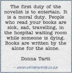 I love this take on writing!