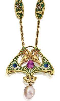 Art Nouveau Pendant by Lucien Gautrait ca.1900