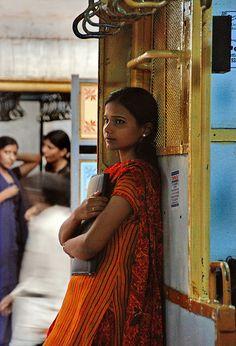 Indian girl on train