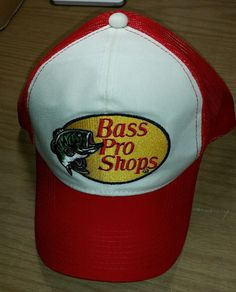 f3d5397f6a26b Red Snapback Mesh Trucker Hat Cap Vintage Bass Pro Shops Unworn   BassProShops  BaseballCap