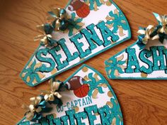 Items similar to Cheerleading gift, cheerleader, personalized megaphone on Etsy Cheerleading Locker Decorations, Cheerleading Signs, Cheer Decorations, Cheerleading Crafts, Cheerleader Gift, Cheer Coach Gifts, Cheer Gifts, Cheer Mom, Team Gifts