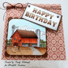 Weathered Red Barn Card