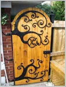 Garden door or privacy fence door