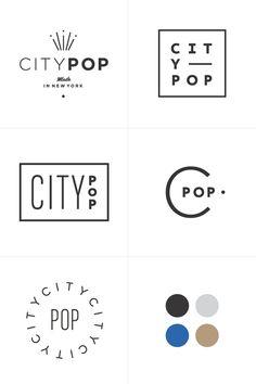 City Pop   Branding Process  Rowan Made