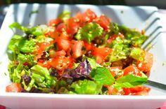 Салат с мятной заправкой | Как невероятно это ни звучит, но это сочетание совершенно фантастическое, салат получается очень летний, вкусный и освежающий!!!