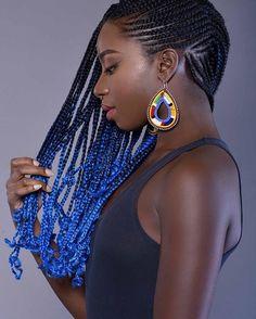 Box braids / ombre hair / blue hair
