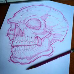 #skull #sketch #Zubiewear #teedesign #screenprint #union