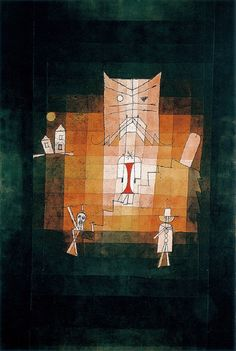 Paul #Klee - The Mountain of the Sacred #Cat, 1923