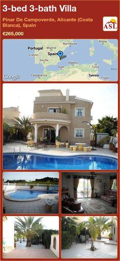 3-bed 3-bath Villa in Pinar De Campoverde, Alicante (Costa Blanca), Spain ►€265,000 #PropertyForSaleInSpain