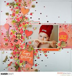 Just too Obsessed Birthday Scrapbook Pages, November Challenge, Party Time, Challenges, Birthdays, Birthday