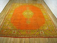 "Oushak & Turkish 14' 0"" x 11' 2"" Antique Oushak at Persian Gallery New York - Antique Decorative Carpets & Period Tapestries"