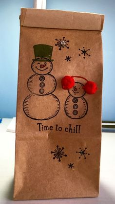 Christmas Gifts - Petite Cafe Gift Bag - Stampin' Up!  Visit My Blog: http://djcardsandmore.typepad.com/my-blog/