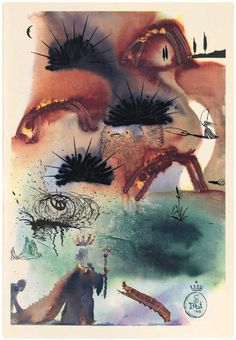 """""""The Lobster's Quadrille""""  Salvadore Dali's illustrations for """"Alice In Wonderland"""" (and really, why wouldn't 33rd degree Freemason and suspected mind control programmer Dali illustrate """"Alice""""?"""