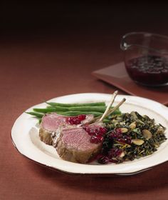 Cranberry Marinated Rack of Australian Lamb: News flash – cranberries are good for more than decorating a tree or a sauce on the side!  Here they're a marinade and a gorgeous glaze.