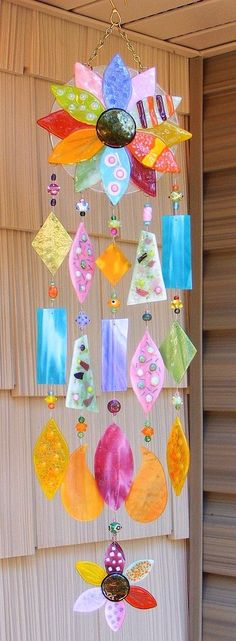 Kirk's Glass Art fused and stained glass windchimes by maricela