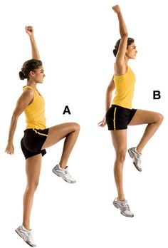 What are plyometrics? Plyometrics are exercises that help develop power and speed by conditioning the neuromuscular and elastic characteristics of the muscle. They help to train the fast twitch fib… Workout Warm Up, Butt Workout, Ab Workouts, Hip Flexor Pain, Hip Flexors, 30 Day Butt Challenge, Calorie Burning Workouts, What Is Hiit, Womens Health Magazine