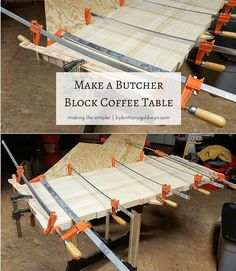 Check out the step-by-step tutorial for my DIY butcher block coffee table and learn how to make one for yourself!