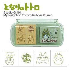 Studio Ghibli My Neighbor Totoro Mini Rubber Stamp Set (Type 3)【Stationery】