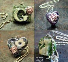 #ceramic-pendants #ceramic-handmade-jewelry $12