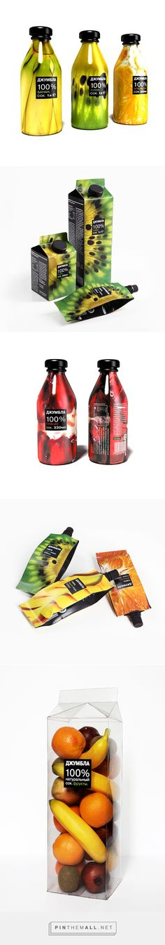 Juice Packaging on Behance by Anna Mkrtchyan, Moscow, Russian Federation curated by Packaging Diva PD. Look at all the ways to package fruit juice. Yummy.