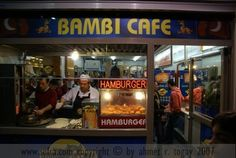Bambi Büfe – Taksim. Wet burgers and lemonade! I have to stop here every time I'm in Istanbul :-)
