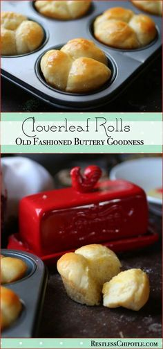 This old fashioned clover leaf rolls recipe will be your favorite! Easy to make buttery, tender dinner rolls are just right for holidays and family dinners.  Ready to make them? Just click through! RestlessChipotle.com via @Marye at Restless Chipotle