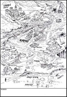 Galeron Castle and surroundings [Settlement Map] [Wilderness] [OC] : FantasyMaps Fantasy Map Making, Fantasy World Map, Fantasy Art, Forest Village, Village Map, Summer Camp Crafts, Camping Crafts, Camping Drawing, Dungeon Maps