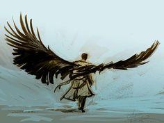 alicexz:    Wing study. Friggin' angels.