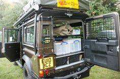 //Storage solution for the Overland Land Rover Defender
