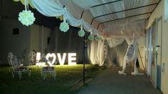 Decoración exterior para una boda